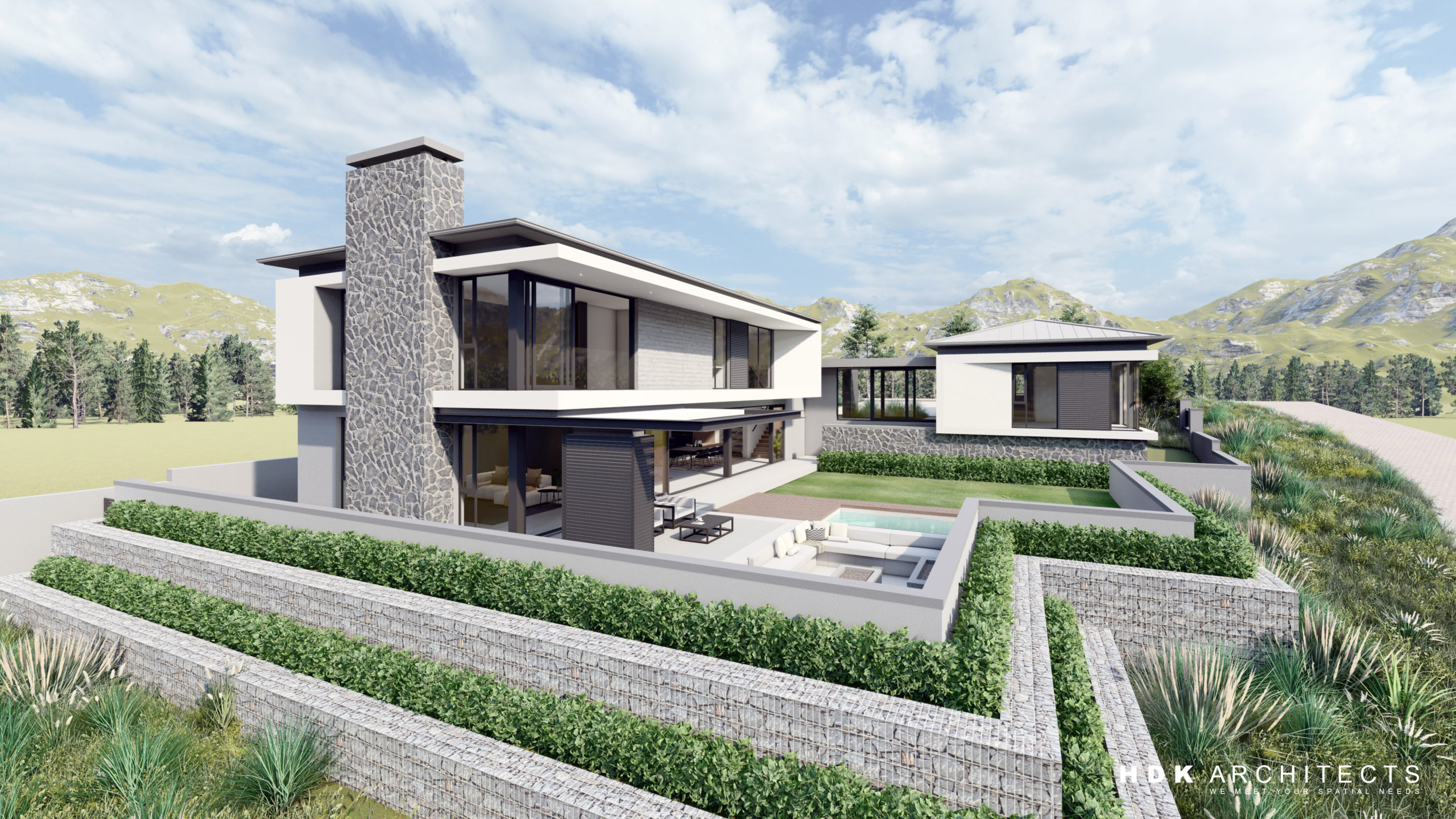 House Scherer, Clara Anna Fontein, Western Cape, New House, Kwali Mark Construction